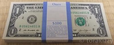 1ドル札100枚